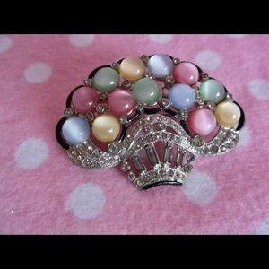 """Jewelry - Vintage Deco """"Crown"""" Brooch"""
